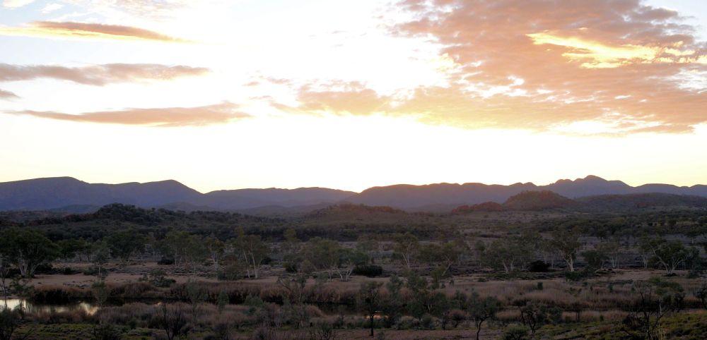 sunrise over macdonnells